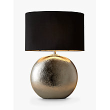 Buy John Lewis Benjamin Ceramic Table Lamp, Chrome Online at johnlewis.com