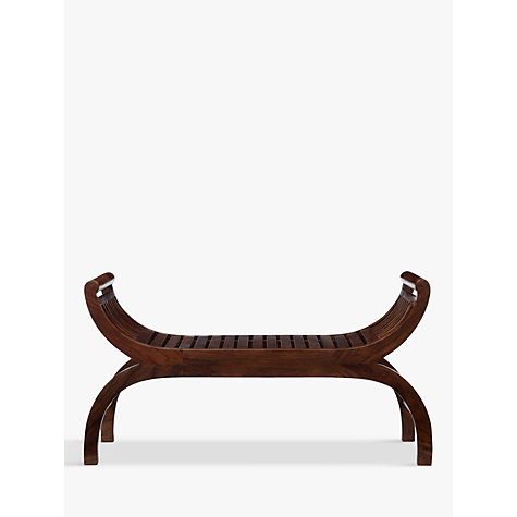 Buy John Lewis Maharani Curved 3-Seater Dining Bench, Dark Stain Online at johnlewis.com