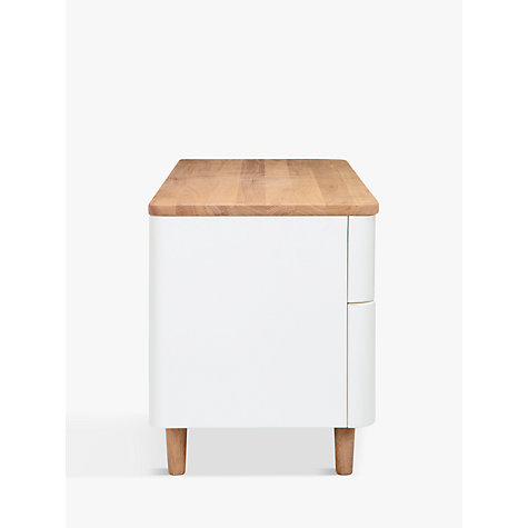 "Buy Ebbe Gehl for John Lewis Mira TV Stand for TVs up to 42"", White/Oak Online at johnlewis.com"
