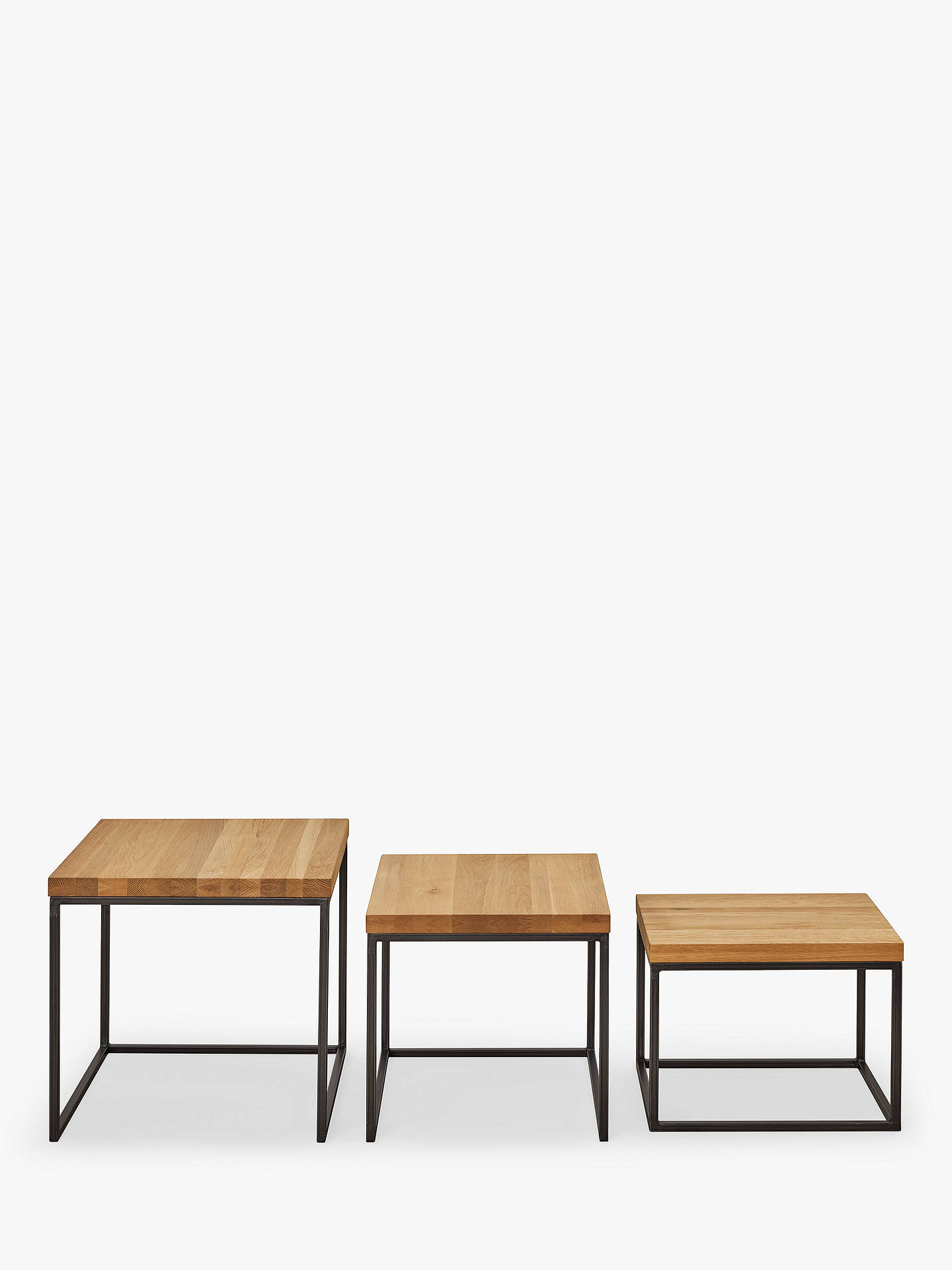 Buy John Lewis & Partners Calia Nest Of 3 Tables, Oak Online at johnlewis.com