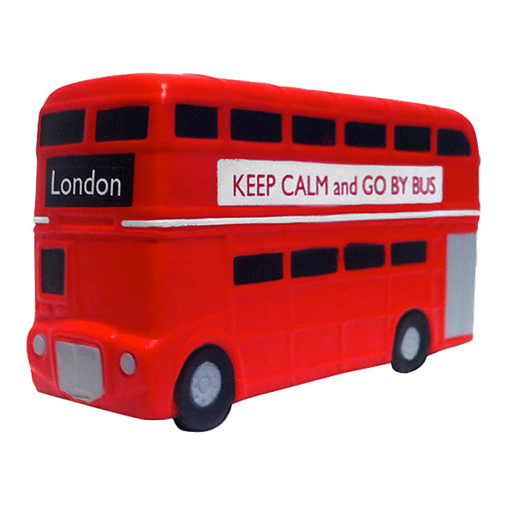 Red Bus Stress Reliever, Red (£4)