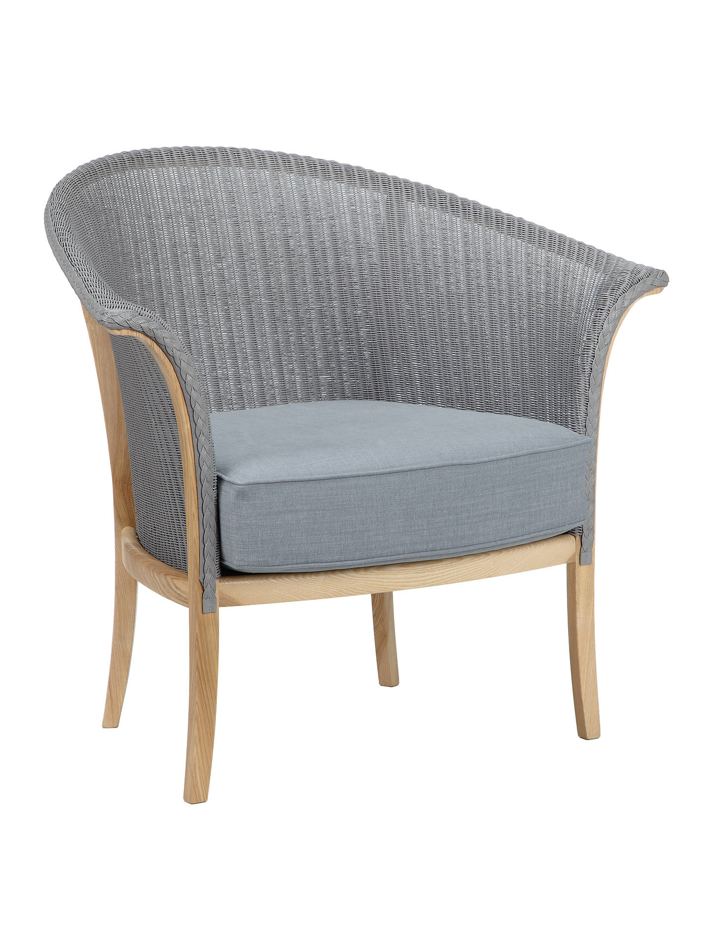BuyLloyd Loom of Spalding Chair, Light Blue Online at johnlewis.com