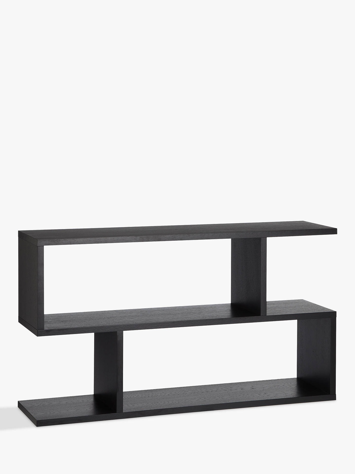 Content By Terence Conran Balance Console Table Low Shelving Charcoal