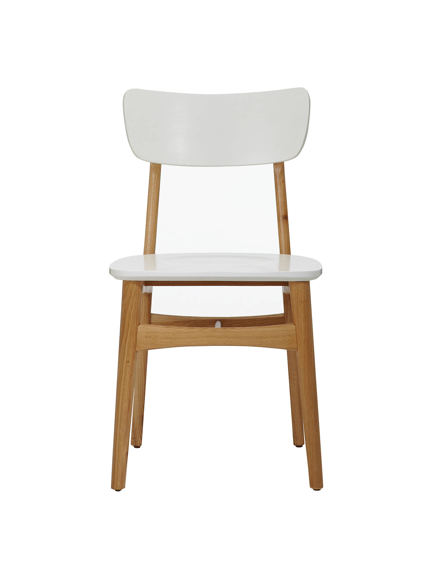 Buy House by John Lewis Asta Dining Chair, Oak/White Online at johnlewis.com