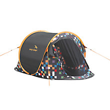 Buy Easy Camp Antic Pixel Tent, Yellow/Black Online at johnlewis.com