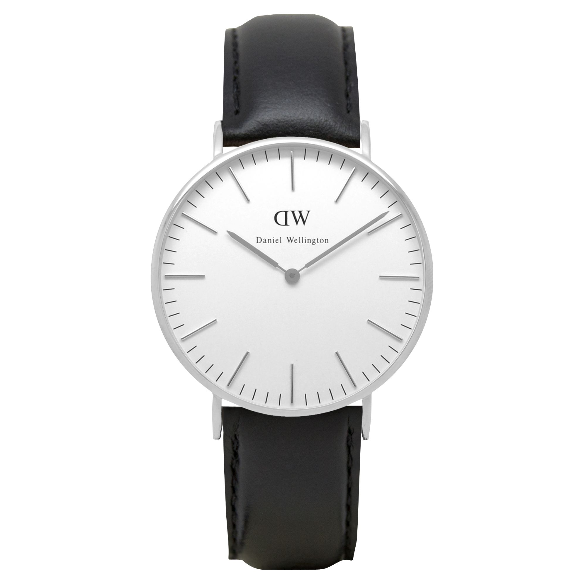 Daniel Wellington Daniel Wellington DW00100053 Women's 36mm Vintage Leather Strap Watch, Black/White
