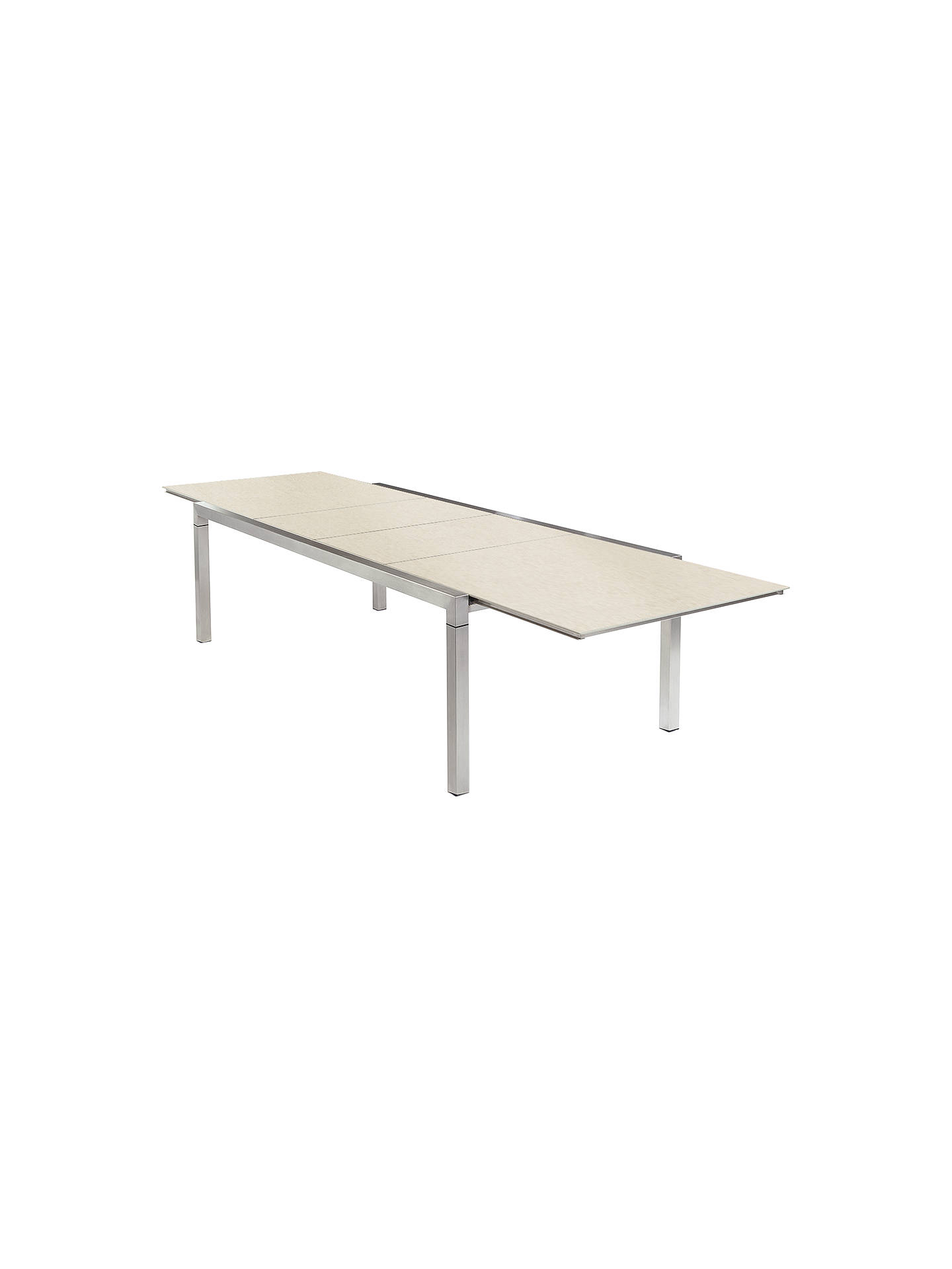 Buybarlow tyrie equinox 360 extending dining table with ceramic top ivory online at johnlewis