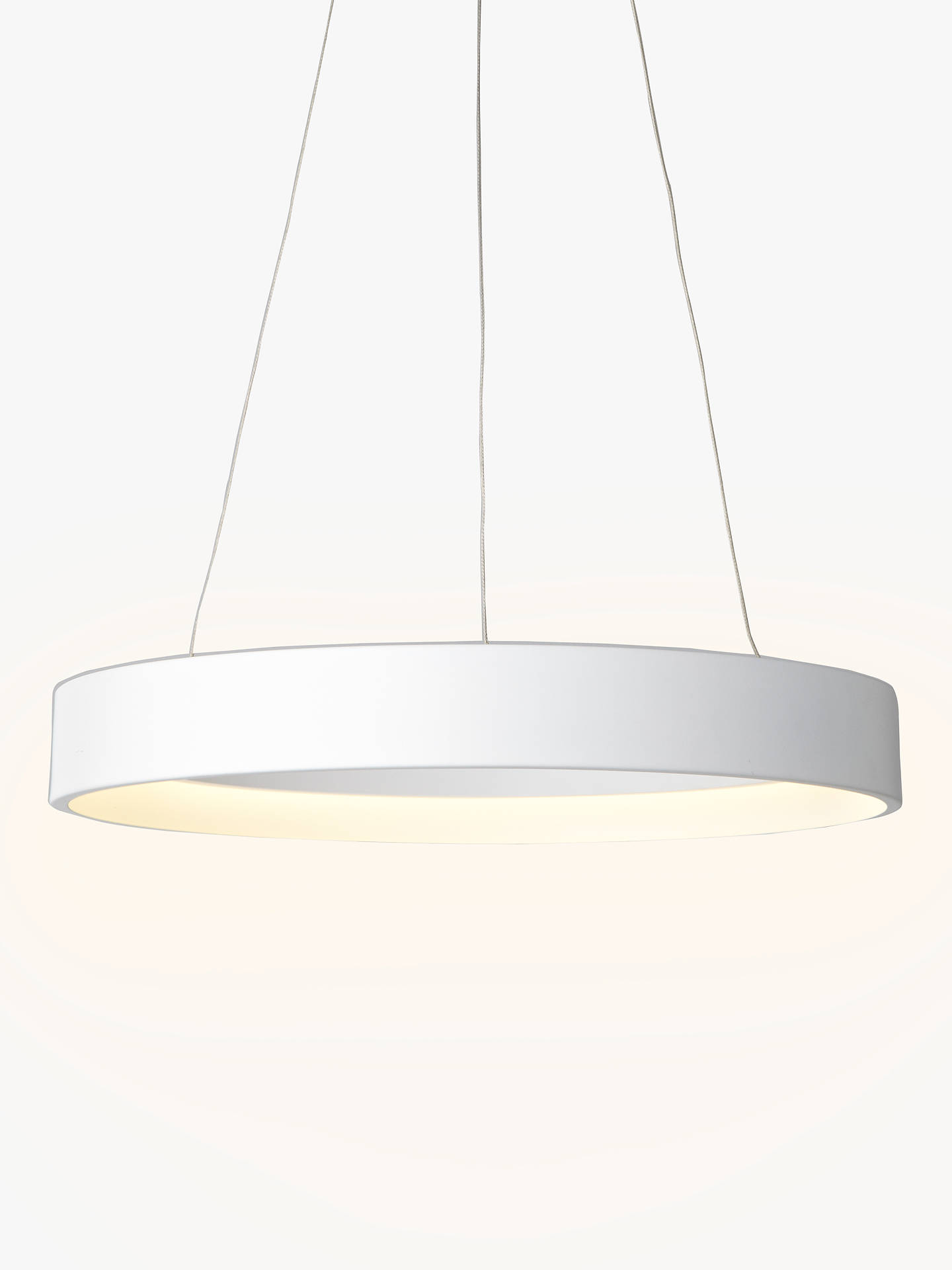 Buy John Lewis & Partners Jorgen LED Hoop Ceiling Pendant, White Online at johnlewis.com