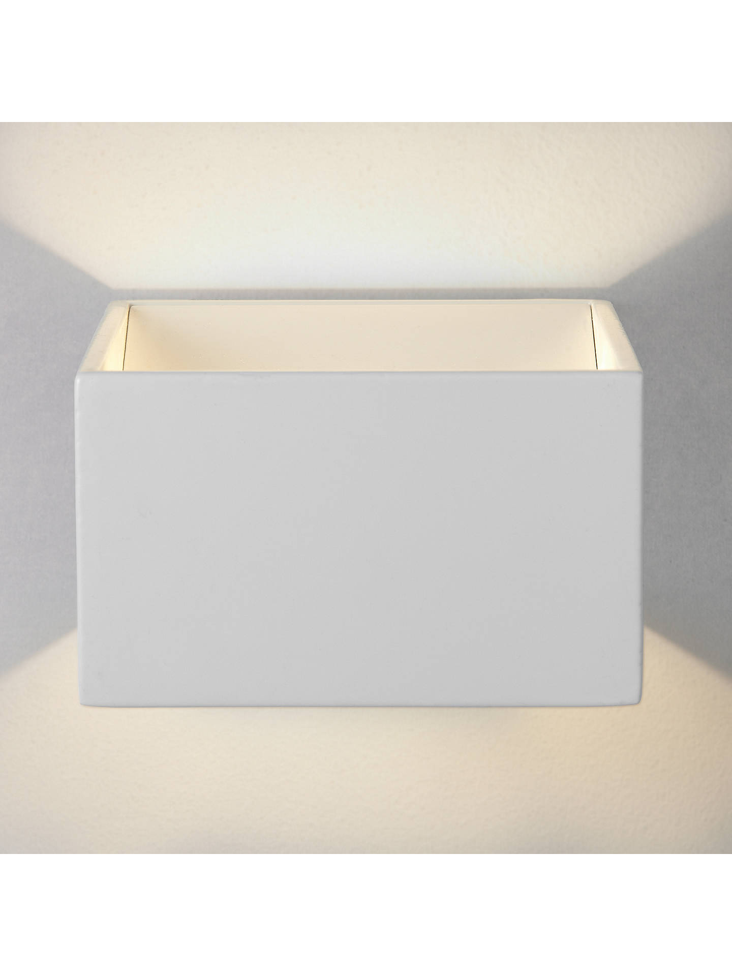 Buy John Lewis & Partners Vector LED Uplighter Cube Wall Light, White Online at johnlewis.com