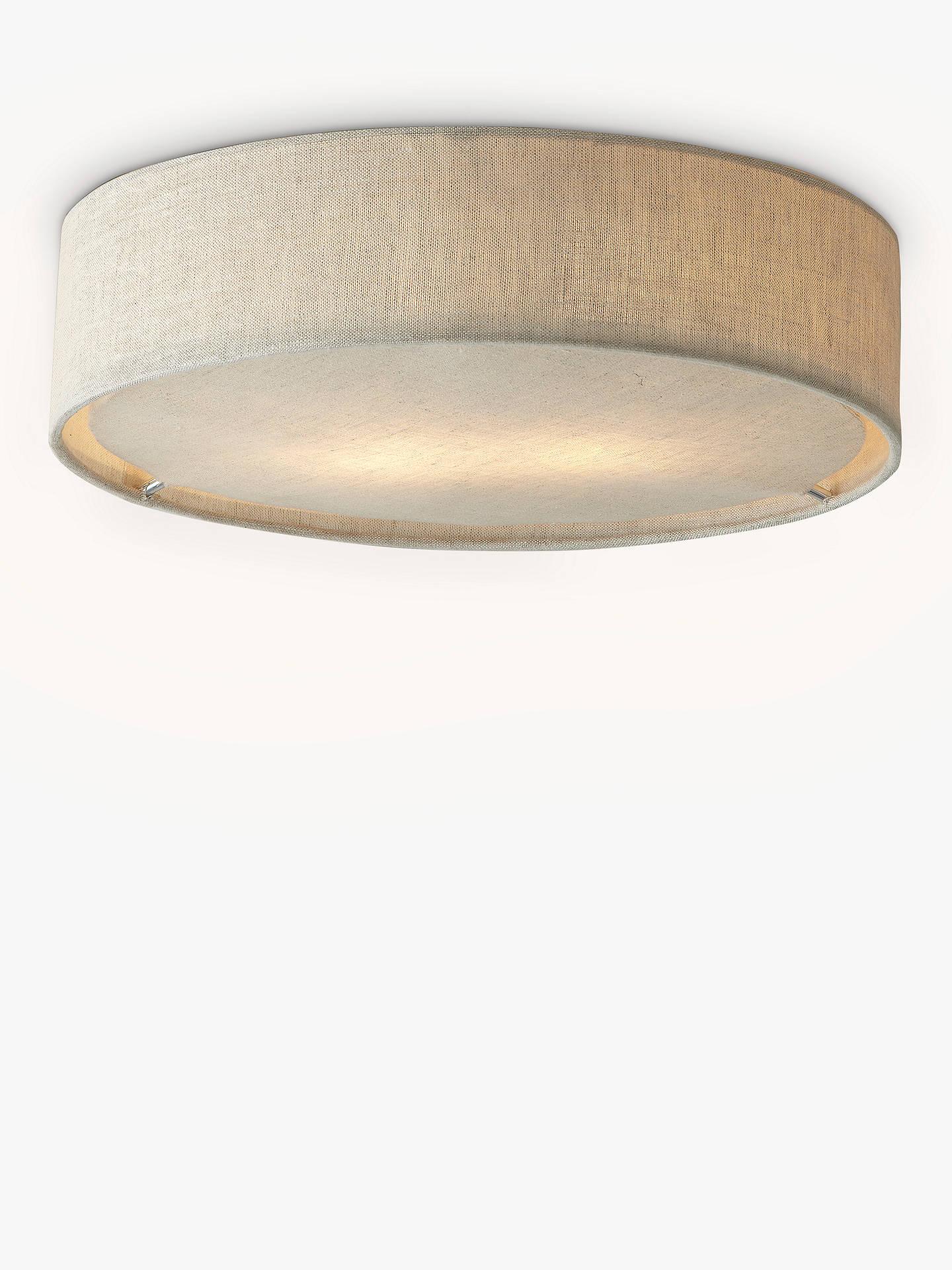 Buyjohn lewis partners samantha linen flush ceiling light online at johnlewis