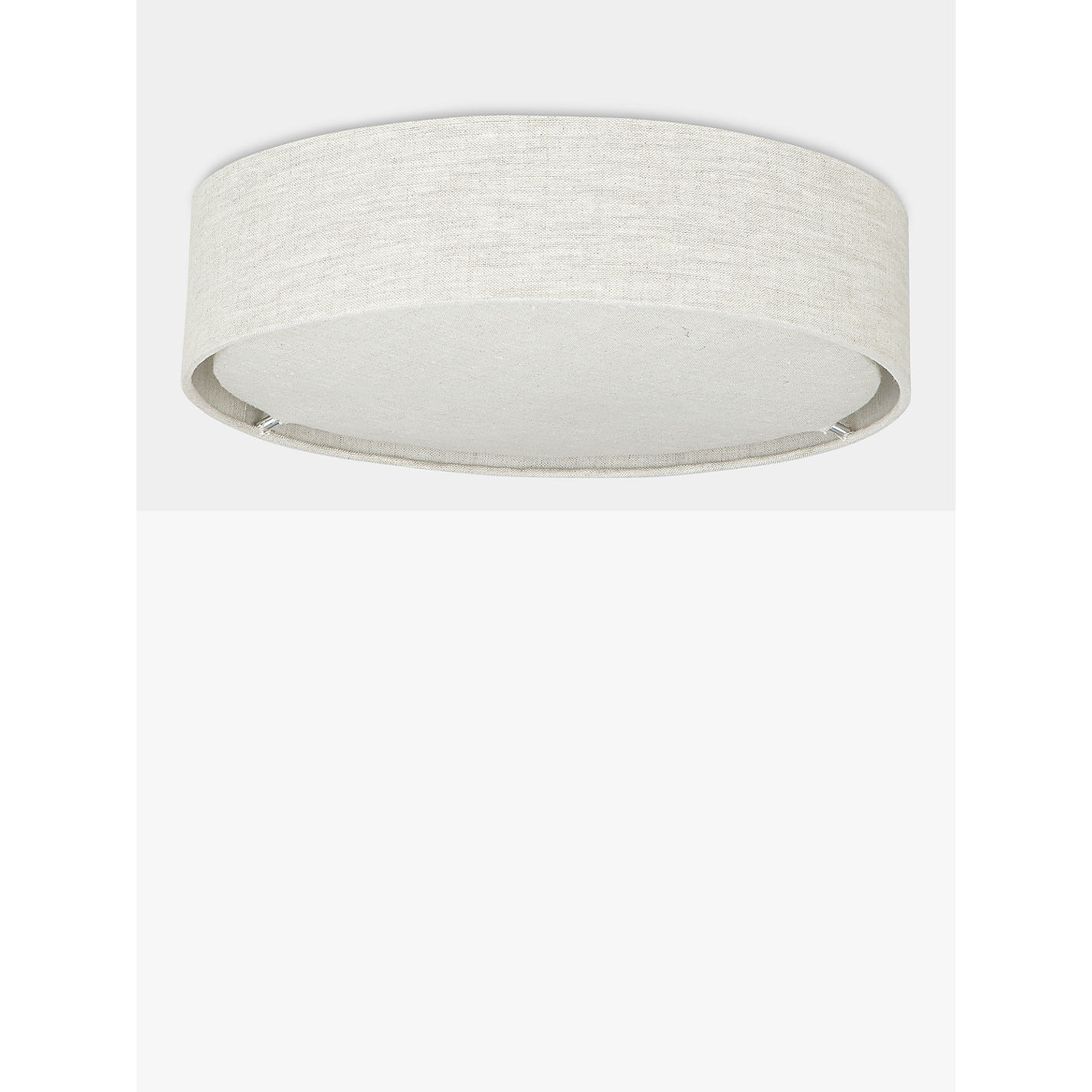 Buy john lewis samantha linen flush ceiling light john lewis buy john lewis samantha linen flush ceiling light online at johnlewis aloadofball Choice Image