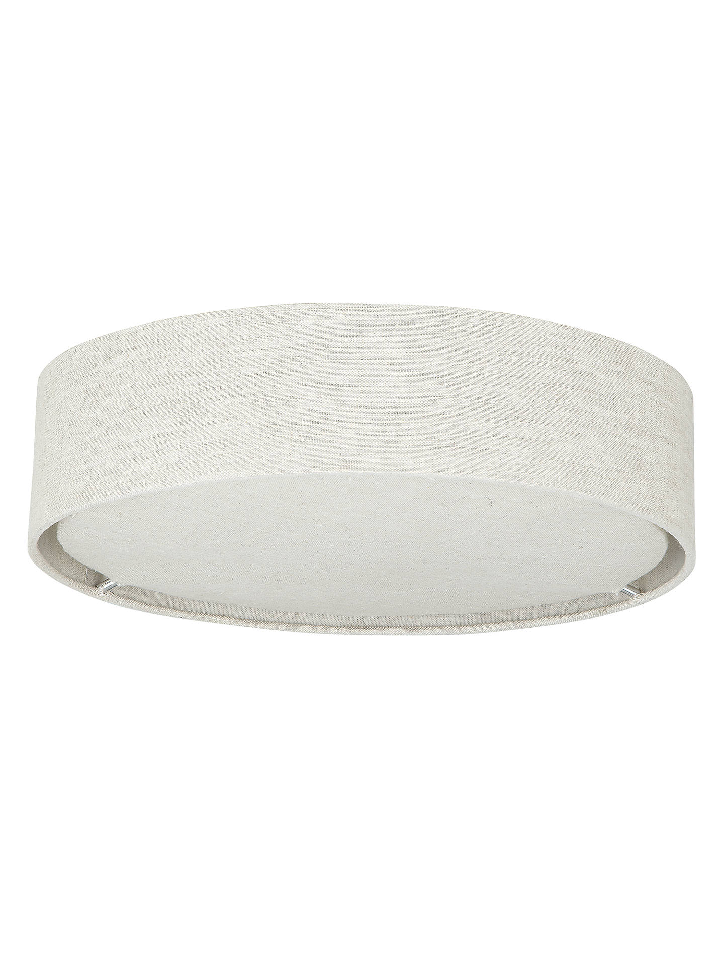 BuyJohn Lewis & Partners Samantha Linen Flush Ceiling Light Online at johnlewis.com