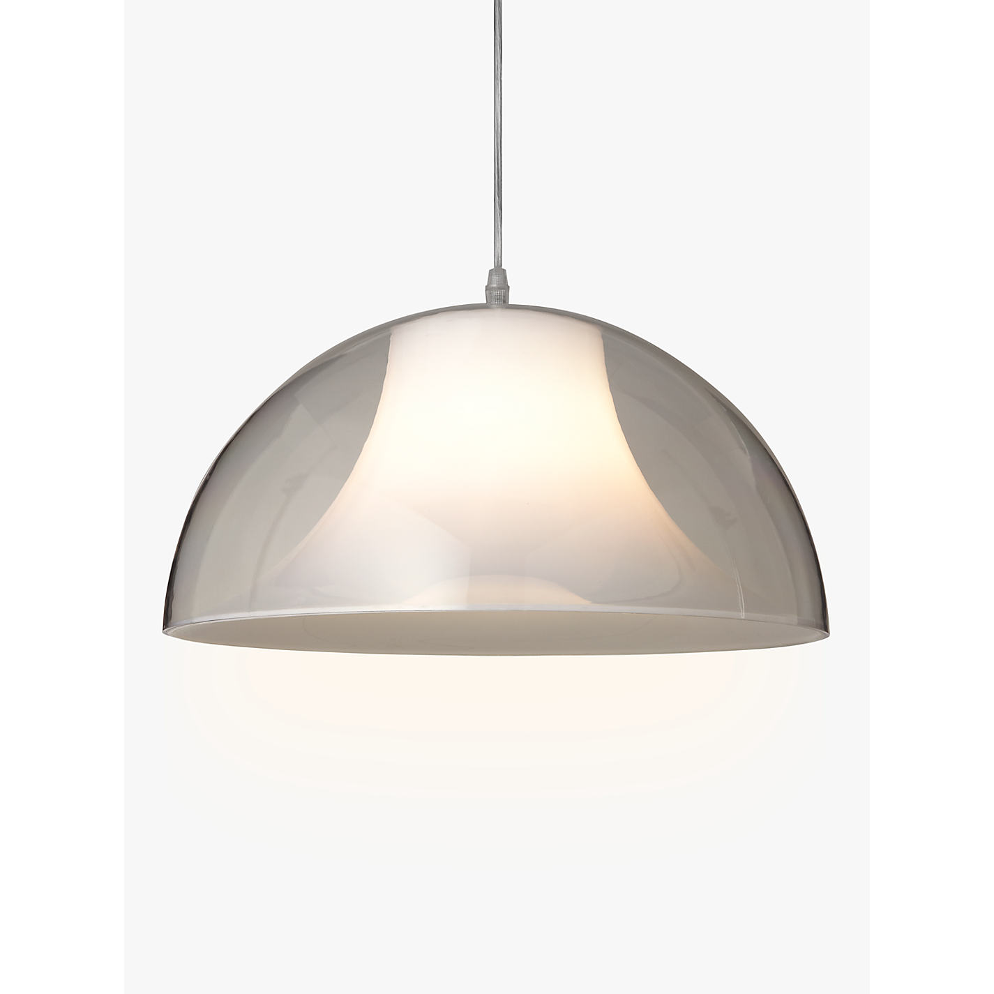 Buy house by john lewis morf acrylic dome pendant clear john lewis buy house by john lewis morf acrylic dome pendant clear online at johnlewis aloadofball Gallery
