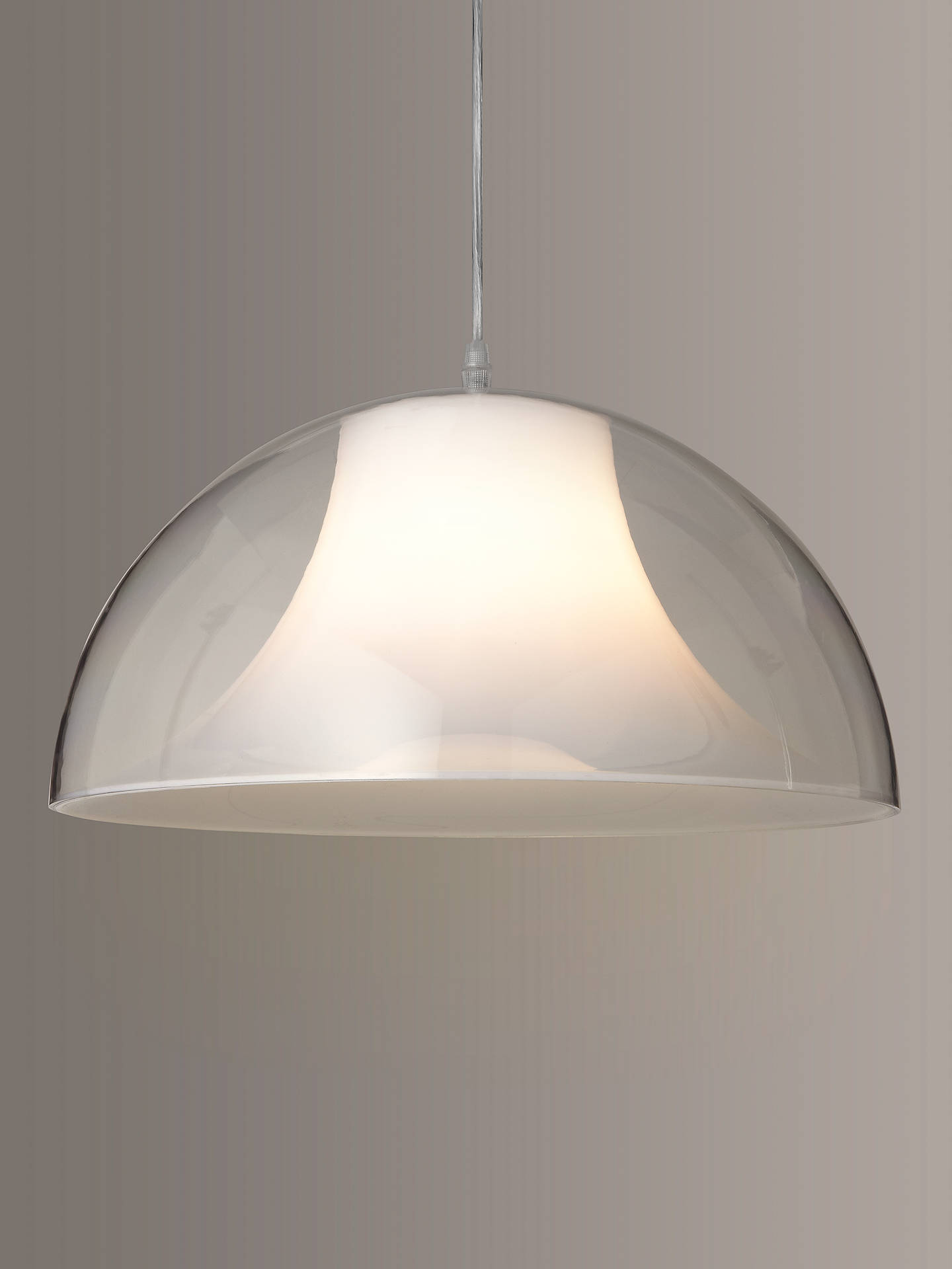 Buy House by John Lewis Morf Acrylic Dome Ceiling Light, Clear Online at johnlewis.com