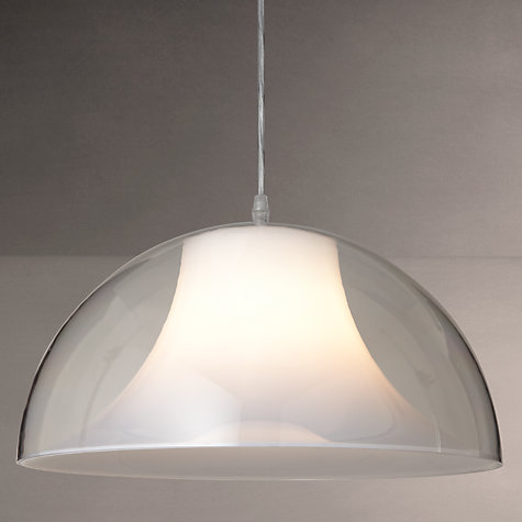 Buy House by John Lewis Morf Acrylic Dome Pendant, Clear Online at johnlewis.com