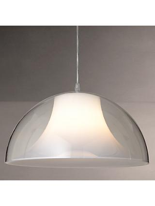 House by John Lewis Morf Acrylic Dome Ceiling Light, Clear