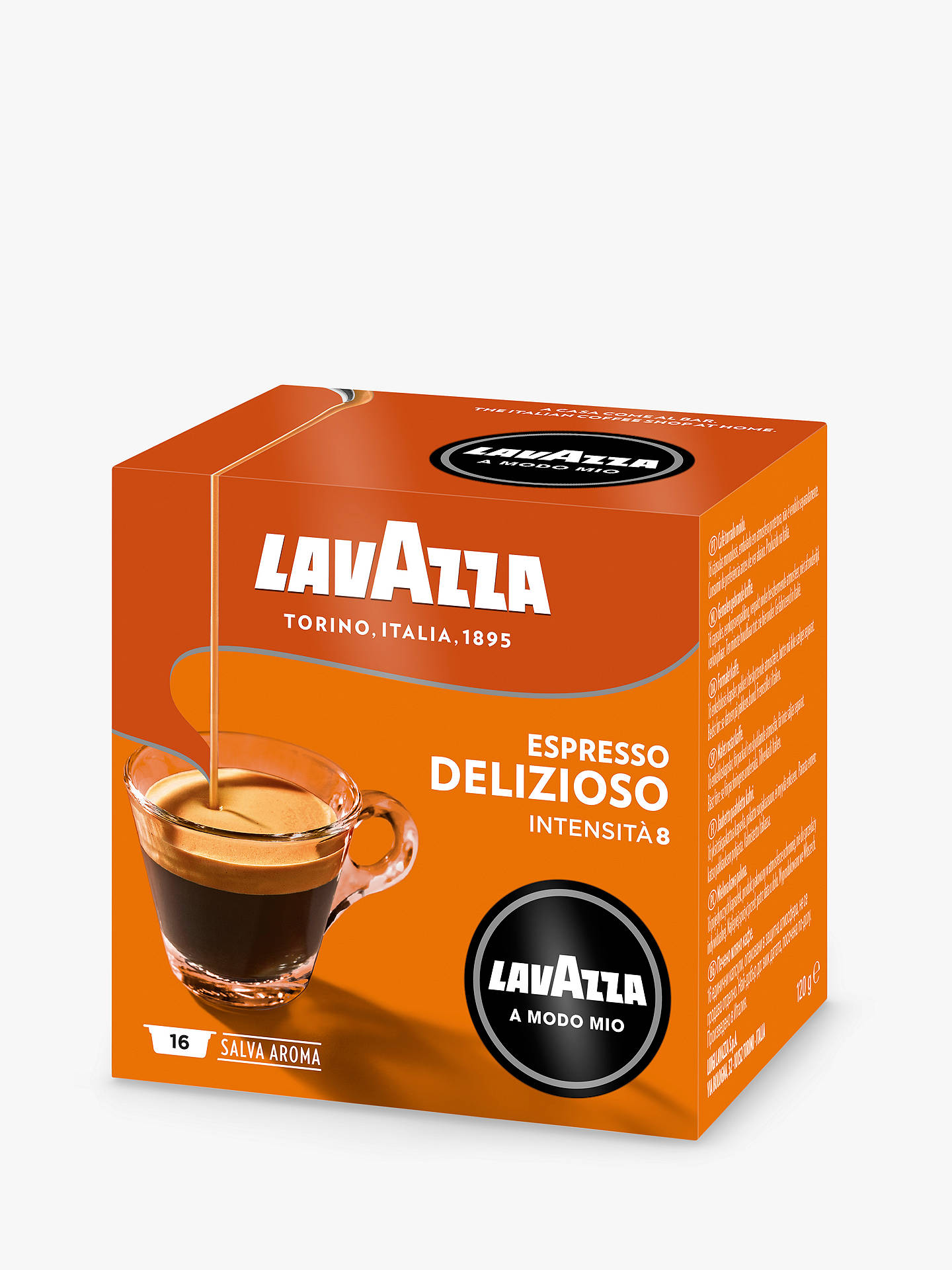 Buy Lavazza Delizioso A Modo Mio Espresso Capsules, Pack of 16 Online at johnlewis.com