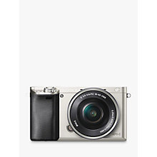 "Buy Sony A6000 Compact System Camera with 16-50mm OSS Lens, HD 1080p, 24.3MP, Wi-Fi, NFC, OLED EVF, 3"" Tilting Screen Online at johnlewis.com"