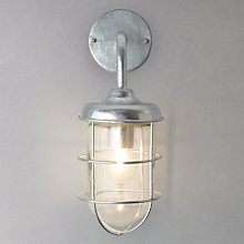 Buy Garden Trading Company St Ives Harbour Galvanised Outdoor Wall Light Online at johnlewis.com