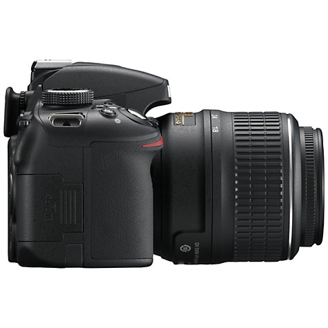 "Buy Nikon D3200 Digital SLR Camera with 18-55mm VR Lens, HD 1080p, 24MP, 3x Optical Zoom, 3"" LCD Screen Online at johnlewis.com"