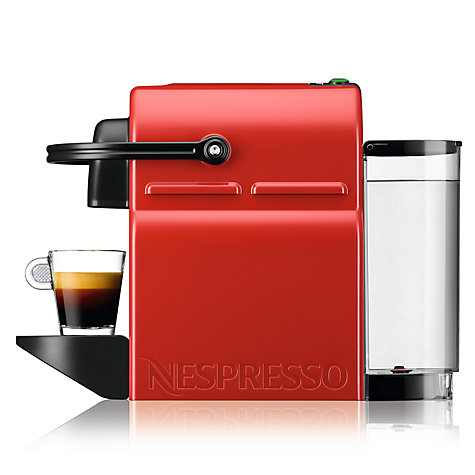 Buy Nespresso Inissia Coffee Machine by KRUPS, Red Online at johnlewis.com