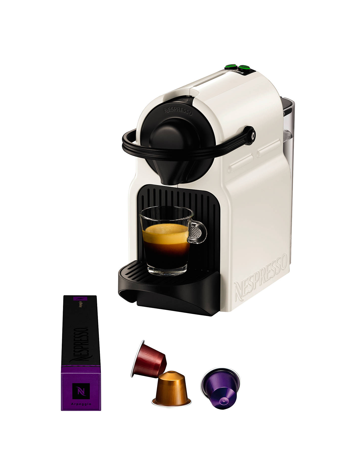 Nespresso Inissia Coffee Machine With Aeroccino By Krups White At