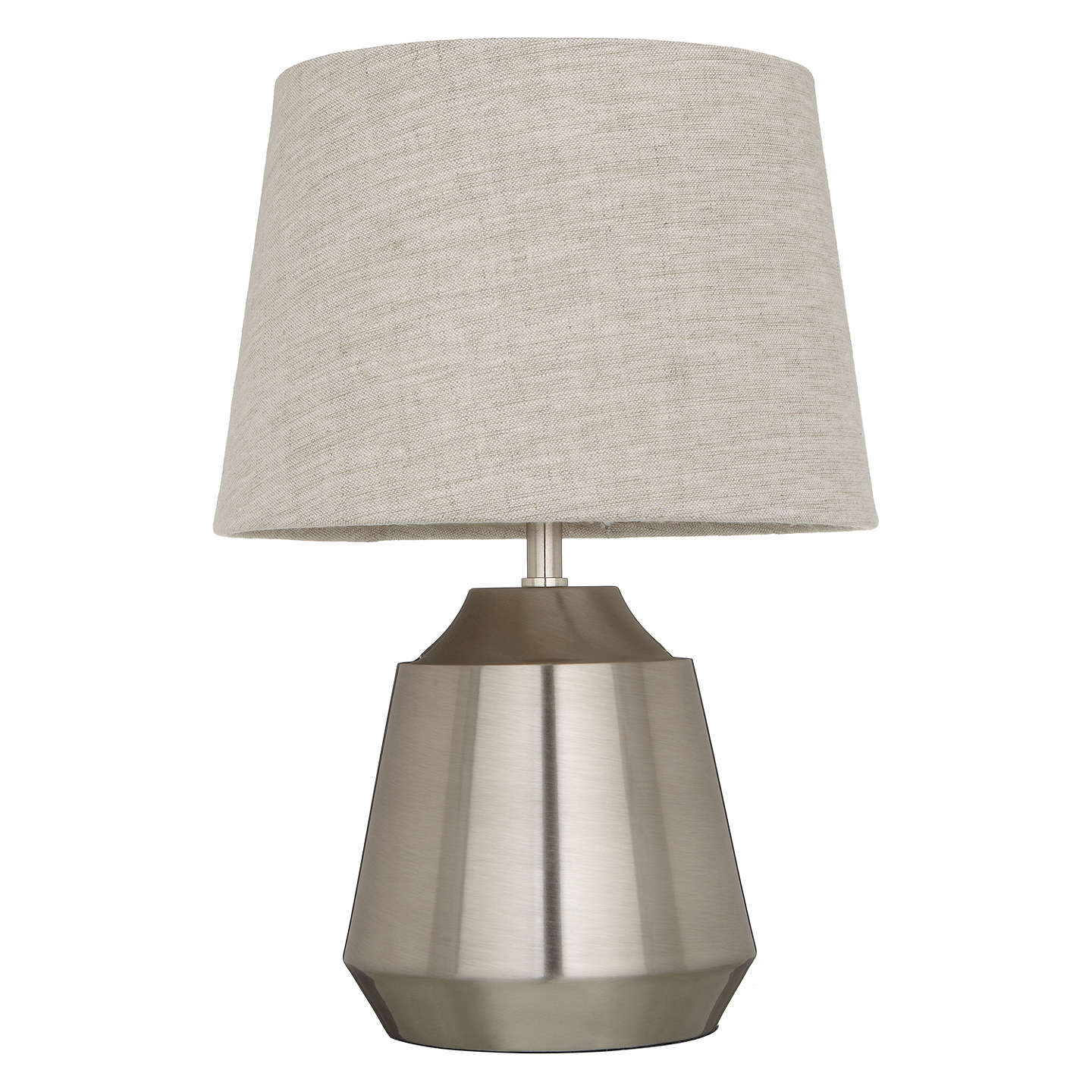 Superbe ... BuyJohn Lewis Lupin Table Touch Lamp, Satin Nickel Online At  Johnlewis.com ...