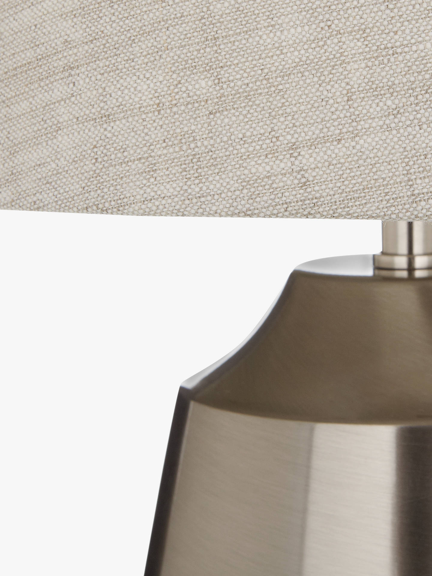 BuyJohn Lewis & Partners Lupin Table Touch Lamp, Satin Nickel Online at johnlewis.com