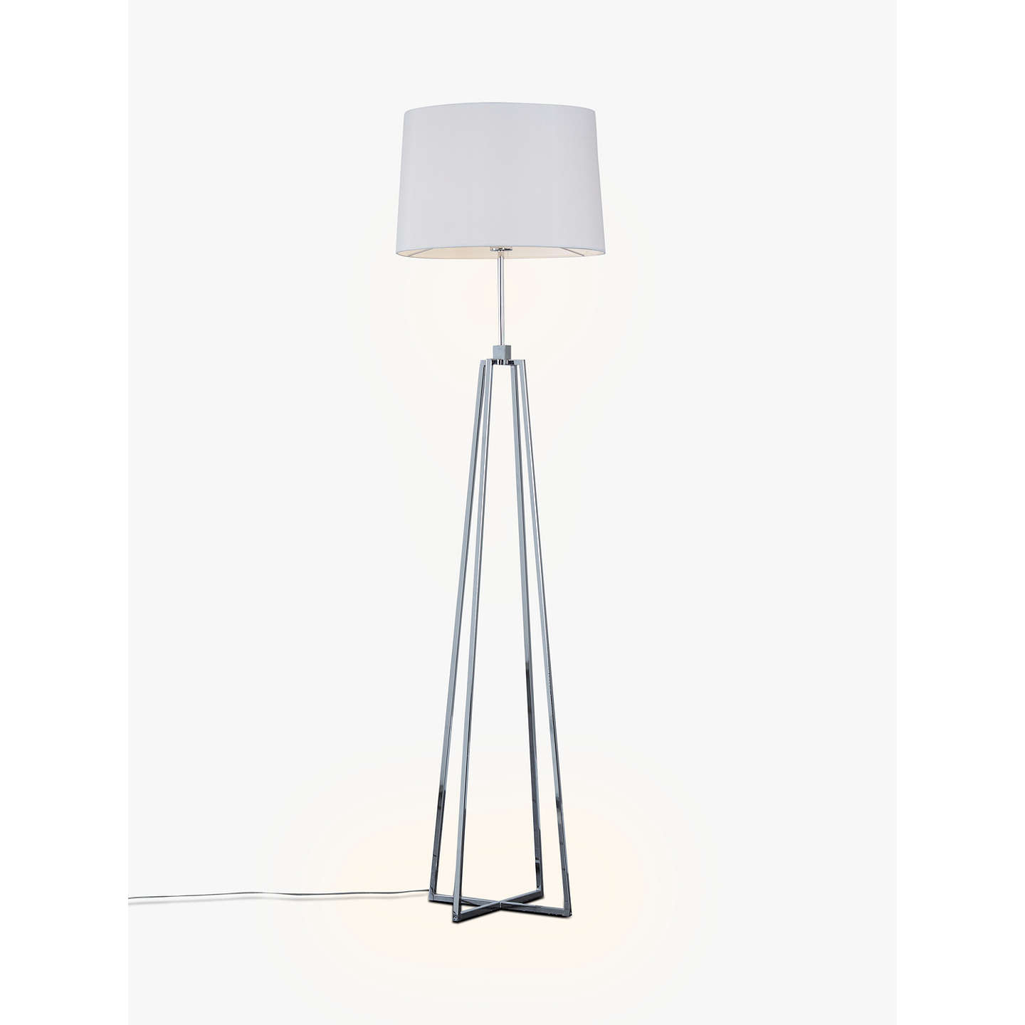 John lewis lockhart floor lamp chrome at john lewis buyjohn lewis lockhart floor lamp chrome online at johnlewis mozeypictures Choice Image