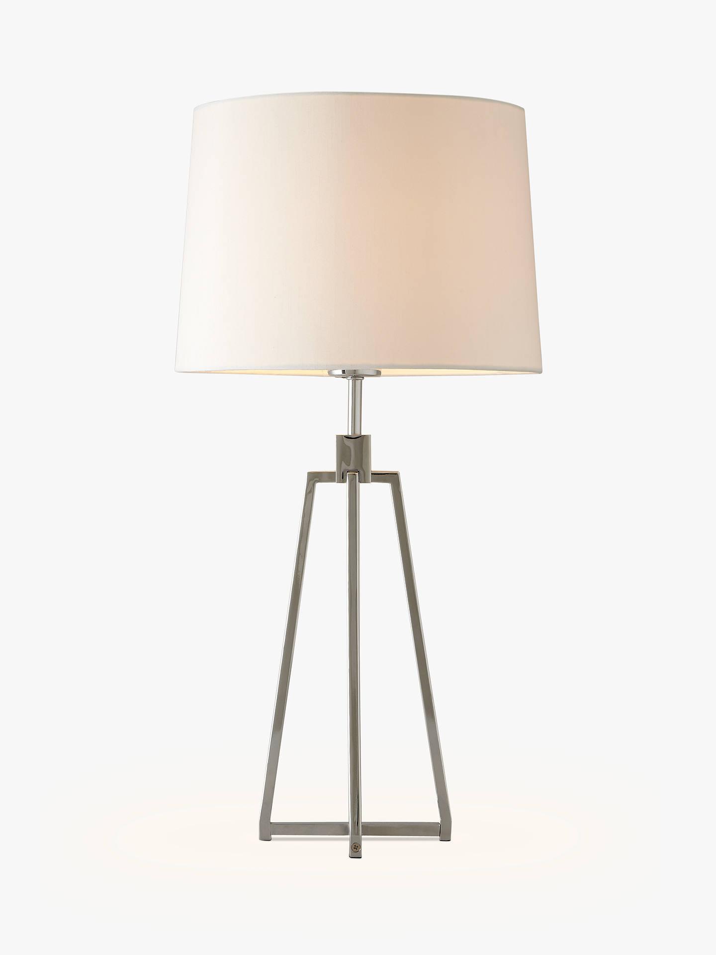 John Lewis & Partners Lockhart Tripod Table Lamp, Chrome