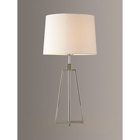 buy john lewis lockhart tripod table lamp chrome online at