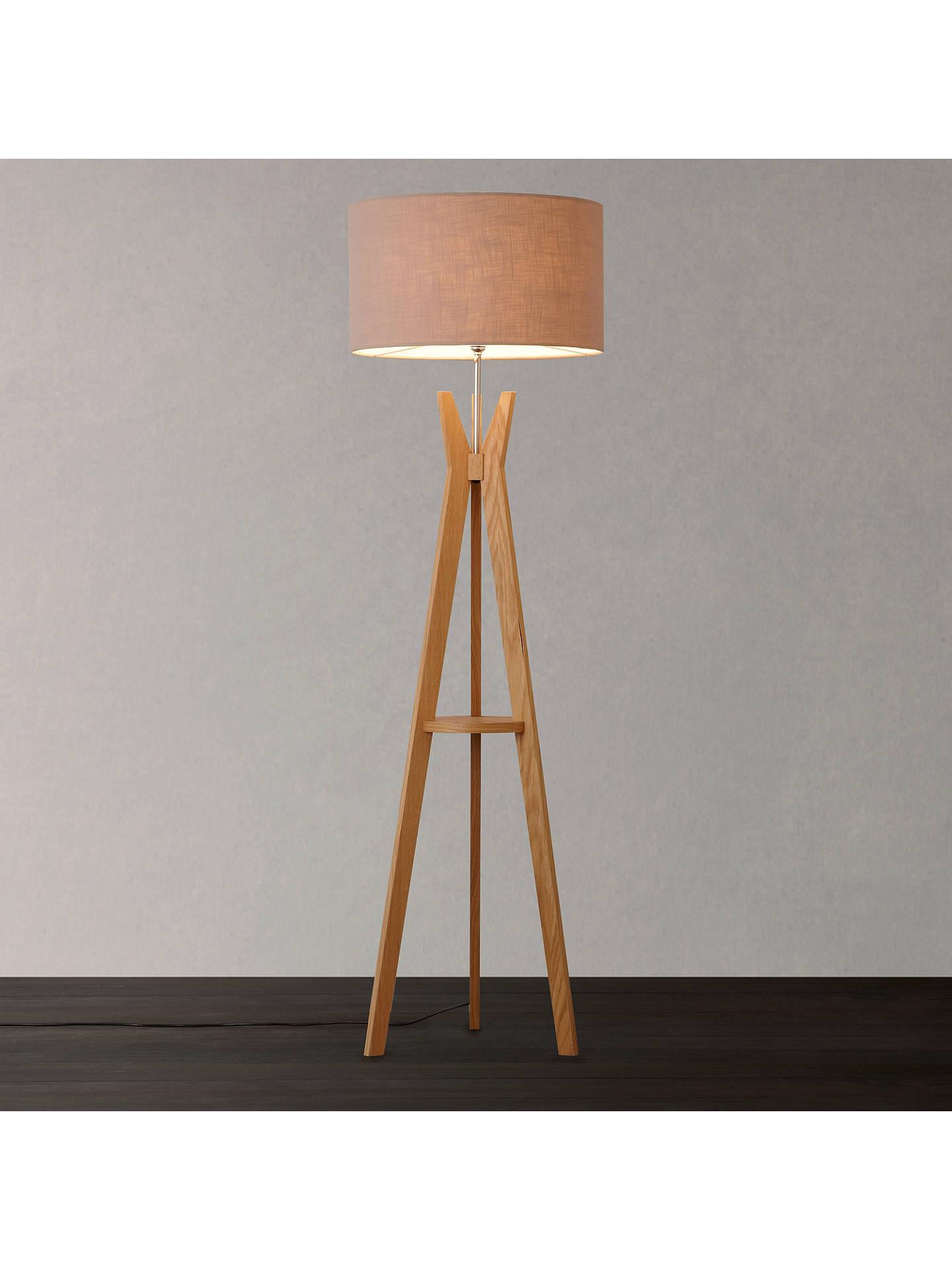 I4dzine Trafalgar Oak Tripod Floor Lamp At John Lewis