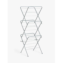 Buy John Lewis Slimline 3 Tier Clothes Airer Online at johnlewis.com