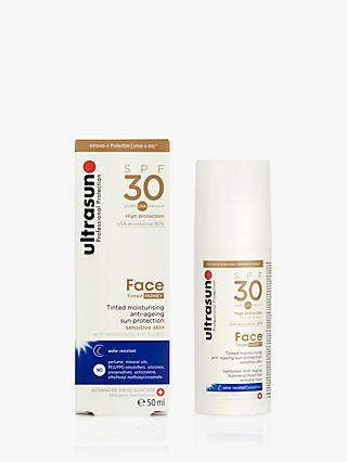 Ultrasun SPF 30 Tinted Face Sun Cream, 50ml