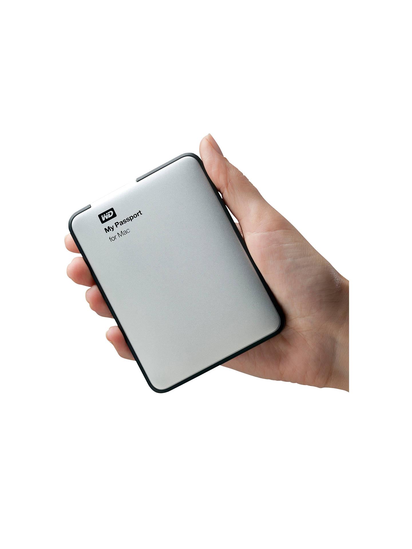 WD My Passport for Mac Portable Hard Drive, USB 3 0, 2TB
