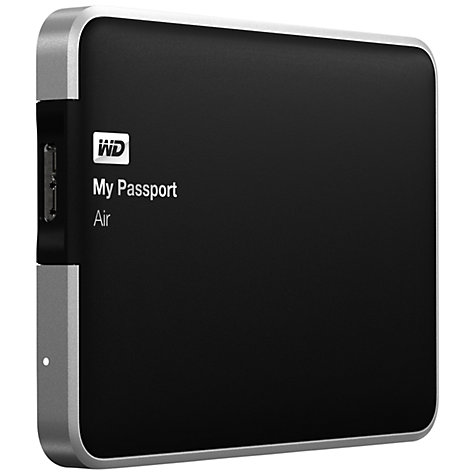 Buy WD My Passport Air, Portable Hard Drive for Mac, USB 3.0, 500GB Online at johnlewis.com