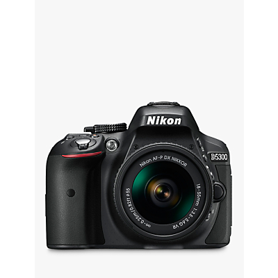 Nikon D5300 Digital SLR Camera with 18-55mm VR Lens, HD 1080p, 24.2MP, Wi-Fi, 3.2 Screen