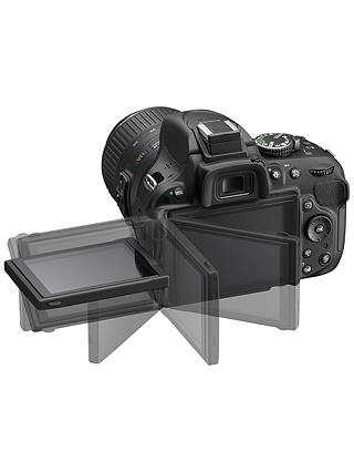 Nikon D5200 Digital Slr Camera With 18 55mm Vr Ii Lens Hd 1080p 24 1mp 3 Screen At John Lewis Partners