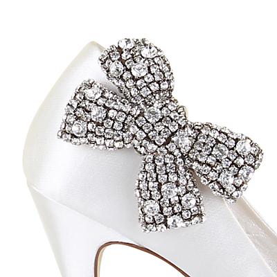 Vintage Style Wedding Shoes, Boots, Flats, Heels Rainbow Club Selena Diamanté Shoe Clips Pack of 2 £54.00 AT vintagedancer.com