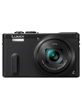 "Buy Panasonic Lumix DMC-TZ60 Digital Camera, HD 1080p, 18.1MP, 30x Optical Zoom, Wi-Fi, NFC, GPS & GLONASS, EVF, 3"" Screen, Black Online at johnlewis.com"
