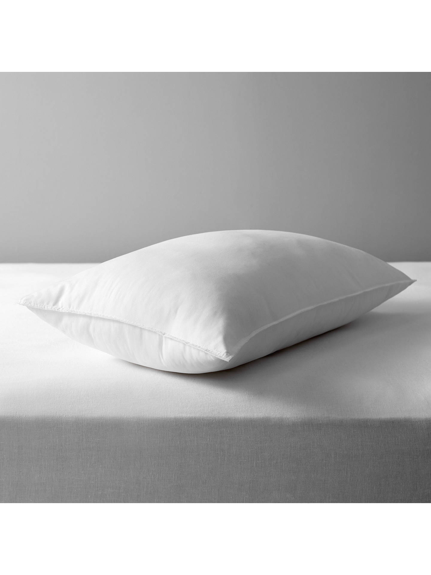 BuyJohn Lewis & Partners Synthetic Soft Touch Washable Standard Pillow, Extra Firm Online at johnlewis.com