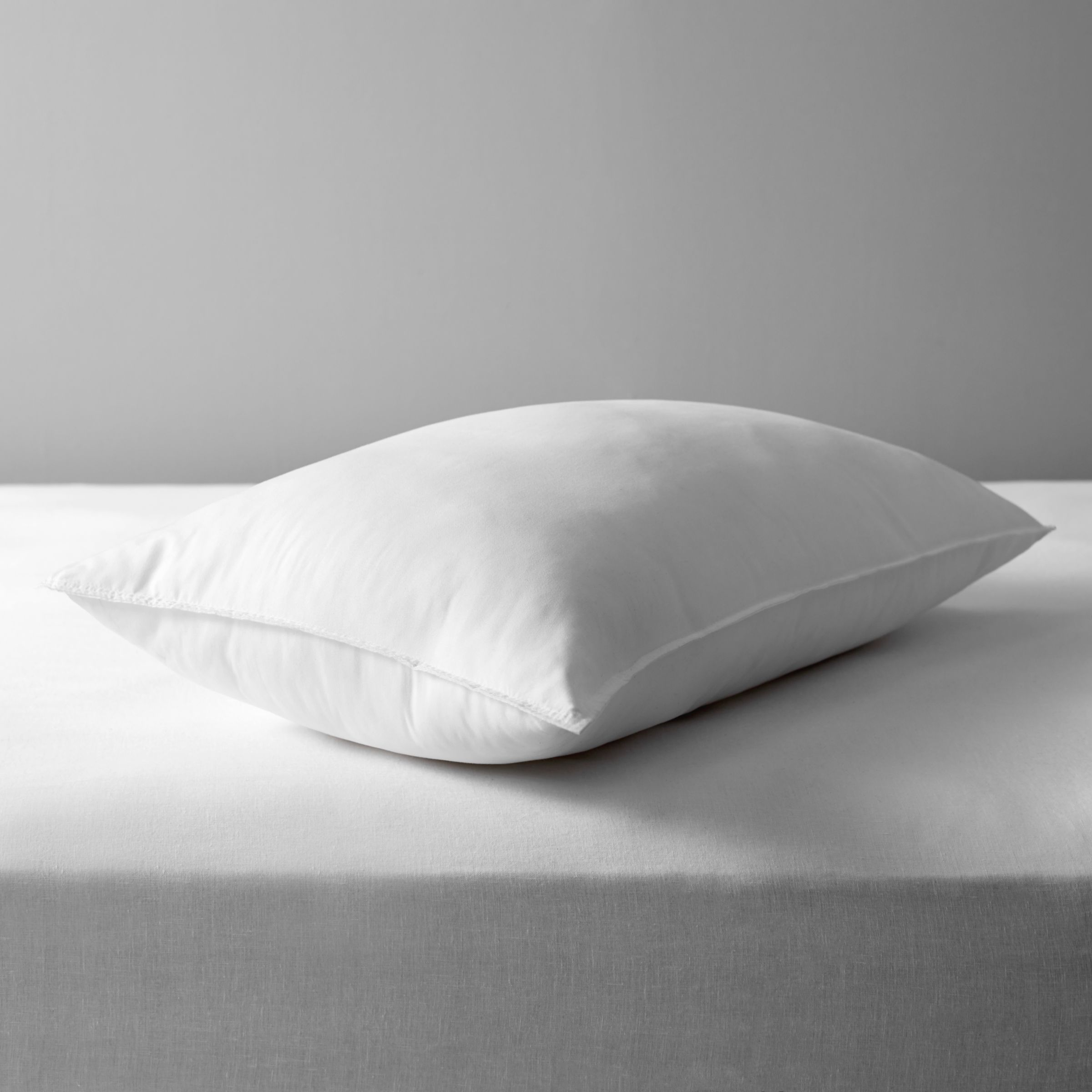 John Lewis & Partners Synthetic Soft Touch Washable Standard Pillow, Extra Firm