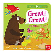 Buy Growl! Can You Say It Too? Book Online at johnlewis.com