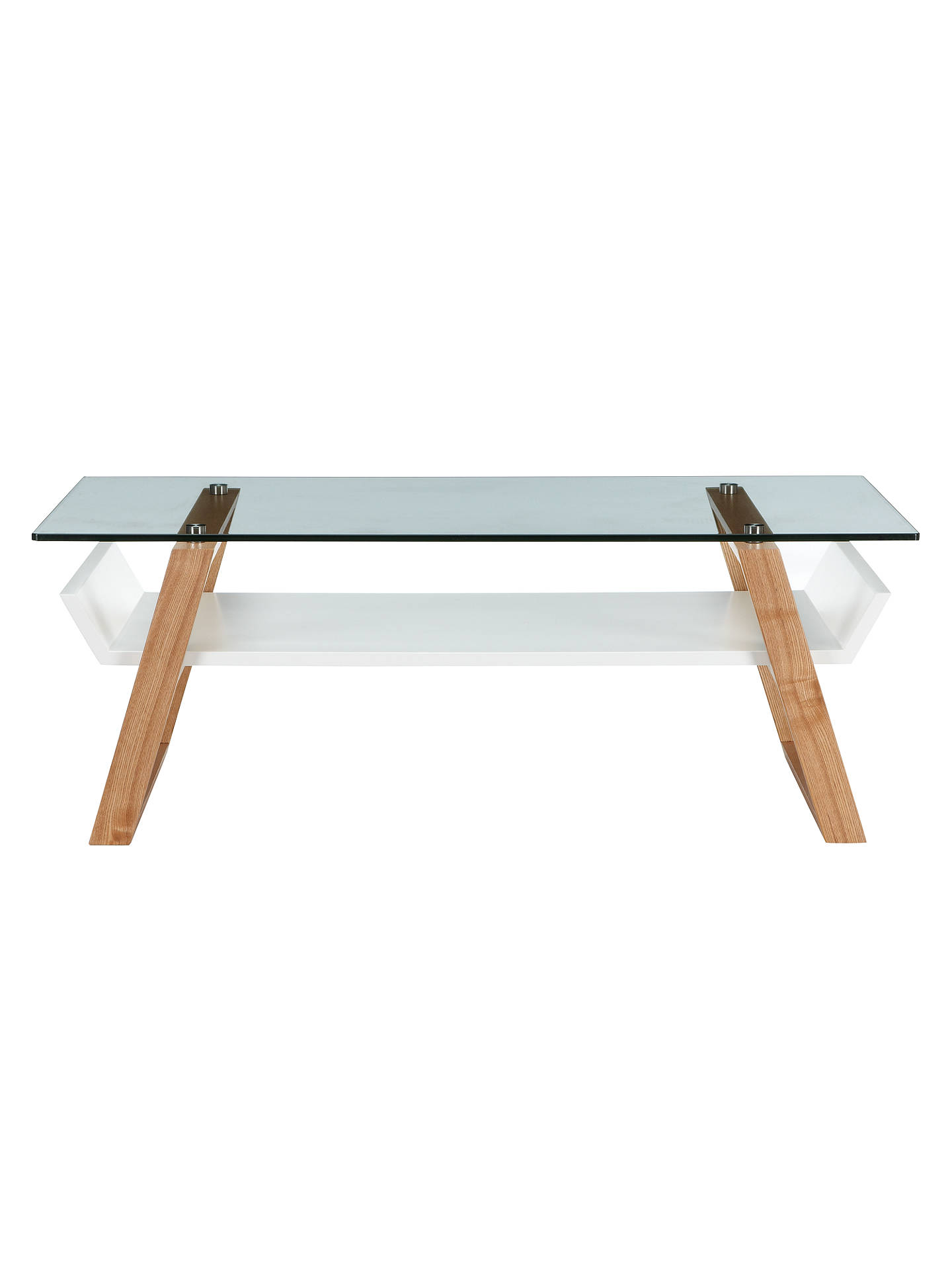 House By John Lewis Airframe Glass Coffee Table At John
