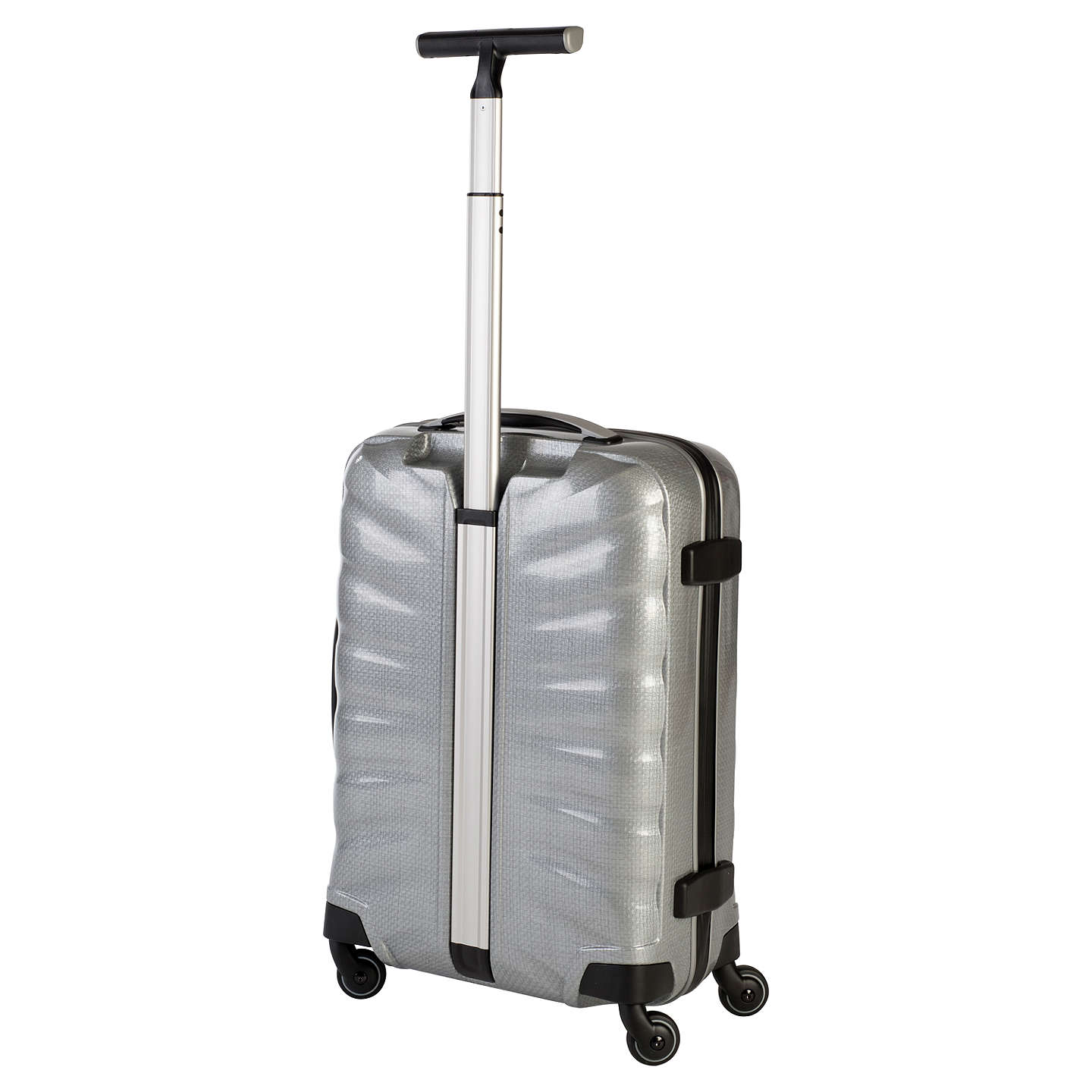 BuySamsonite Firelite 4-Wheel 55cm Cabin Spinner Suitcase, Silver Online at johnlewis.com