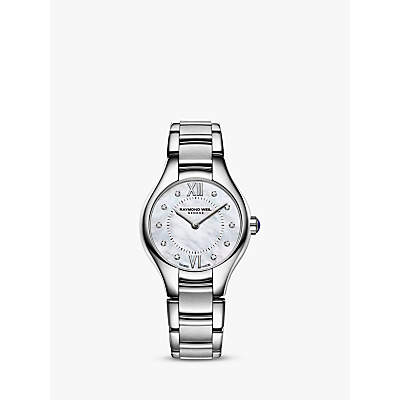 Raymond Weil 5124-ST00985 Women's Noemia Mother of Pearl Diamond Dial Watch, Silver