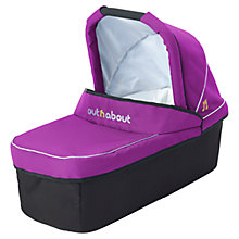 Buy Out 'N' About Nipper Single Carrycot, Purple Punch Online at johnlewis.com