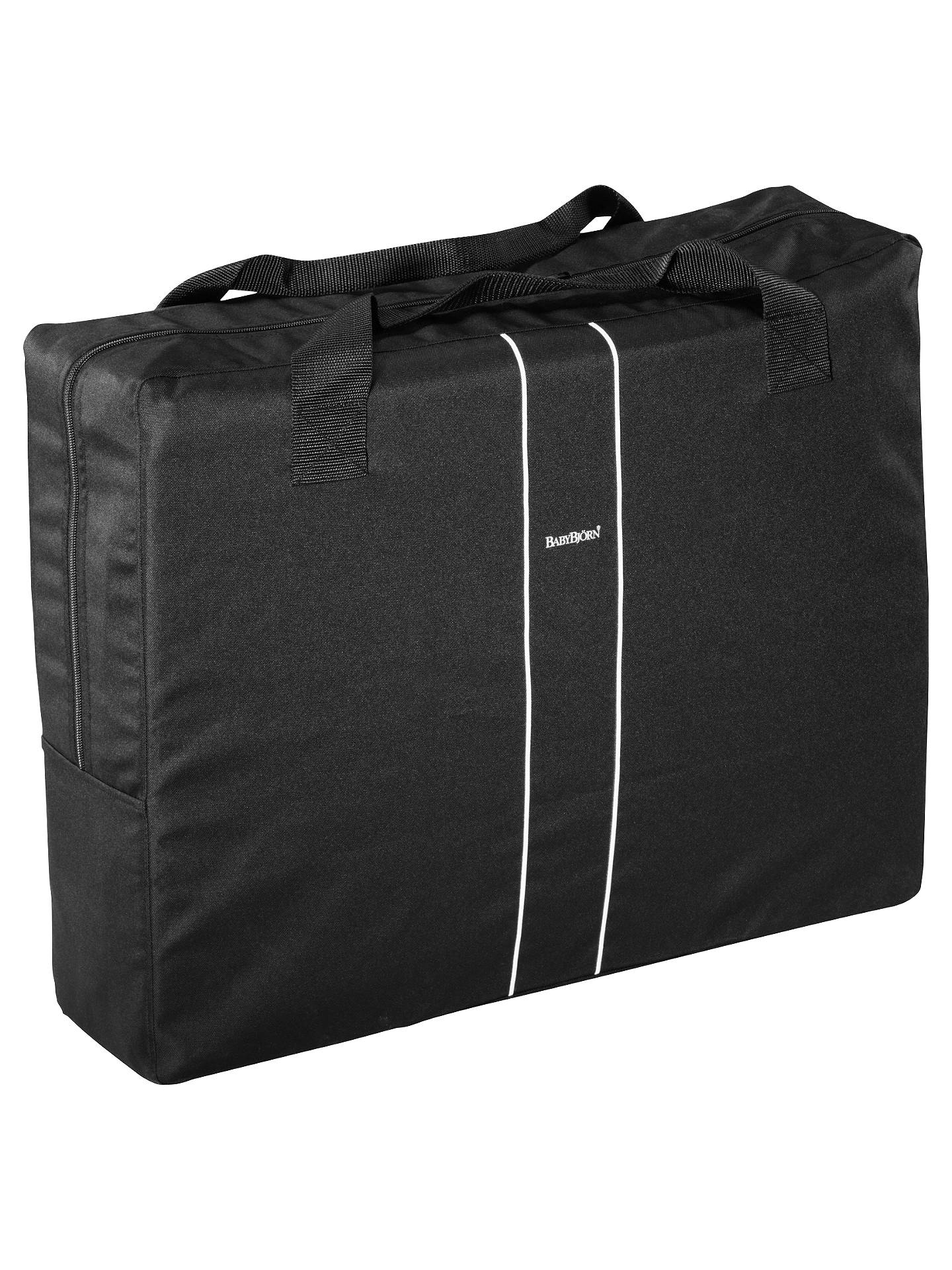 Buy BabyBjörn Travel Cot Light, Black Online at johnlewis.com
