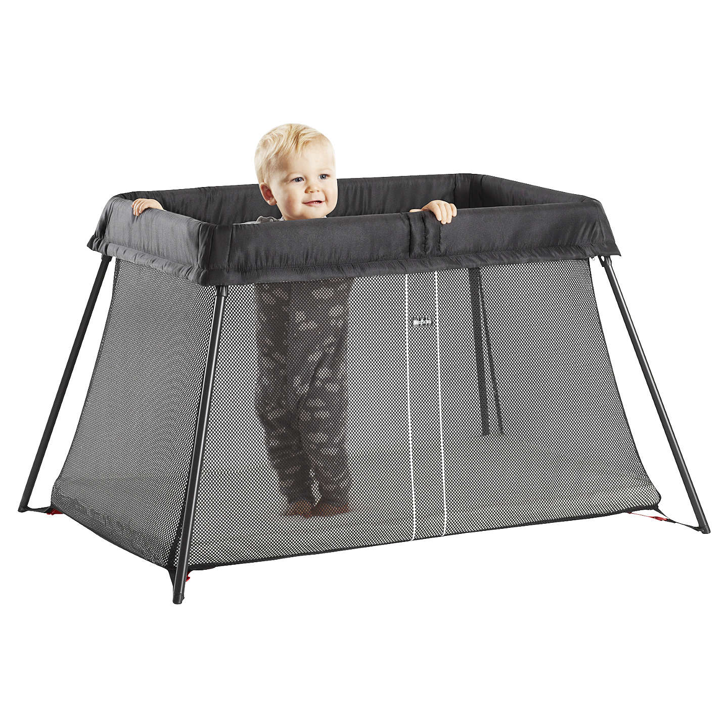 BuyBabyBjörn Travel Cot Light, Black Online at johnlewis.com