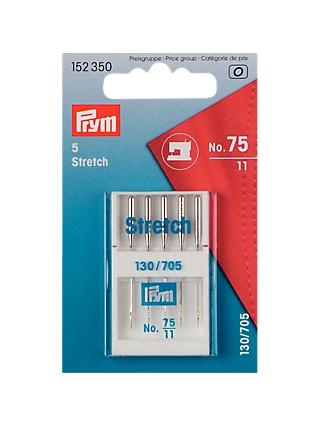 Prym Stretch Sewing Machine Needles, Pack of 5, Size 75